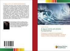 Capa do livro de A água como um direito fundamental