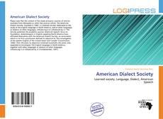 Copertina di American Dialect Society