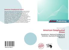 Bookcover of American Geophysical Union