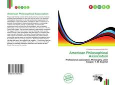 Bookcover of American Philosophical Association