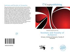 Bookcover of Institute and Faculty of Actuaries