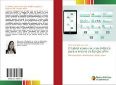 Buchcover von O tablet como recurso didático para o ensino de função afim