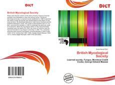 Borítókép a  British Mycological Society - hoz