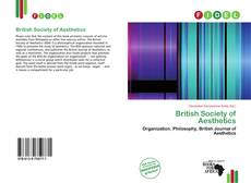 British Society of Aesthetics kitap kapağı