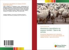 Bookcover of Anestesia raquidiana no espaço lombo - Sacro de ovinos