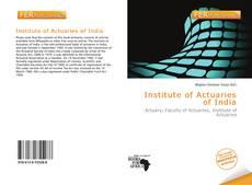 Capa do livro de Institute of Actuaries of India