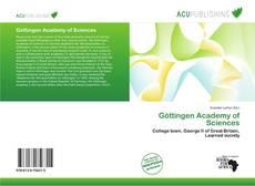 Bookcover of Göttingen Academy of Sciences