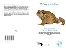 Bookcover of Forest Rain Frog