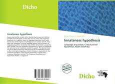 Bookcover of Innateness hypothesis