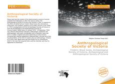 Couverture de Anthropological Society of Victoria