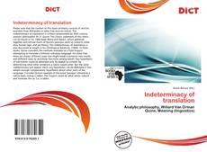 Capa do livro de Indeterminacy of translation