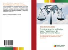 Capa do livro de Cooperação entre as Nações como Possibilidade de Desenvolvimento Mútuo