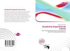 Couverture de Academia Argentina de Letras