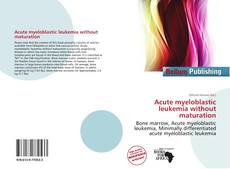 Acute myeloblastic leukemia without maturation kitap kapağı