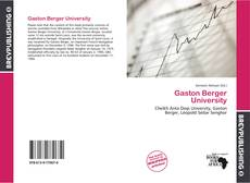 Gaston Berger University kitap kapağı