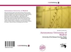 Bookcover of Autonomous University of Madrid