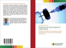 Capa do livro de Programa de Vacinação em Cabo Verde