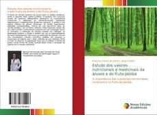 Capa do livro de Estudo dos valores nutricionais e medicinais da árvore e do fruto Jatobá
