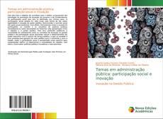 Buchcover von Temas em administração pública: participação social e inovação