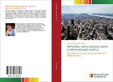 Buchcover von Reflexões sobre estudos sobre a administração pública