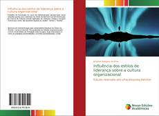 Обложка Influência dos estilos de liderança sobre a cultura organizacional