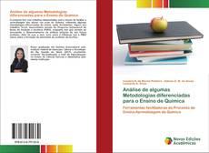 Capa do livro de Análise de algumas Metodologias diferenciadas para o Ensino de Química