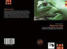 Bookcover of Malesian Frog