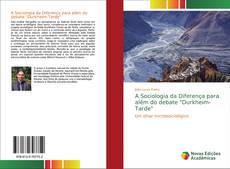 """Portada del libro de A Sociologia da Diferença para além do debate """"Durkheim-Tarde"""""""