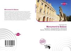 Bookcover of Monument to Balzac