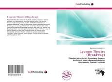 Capa do livro de Lyceum Theatre (Broadway)