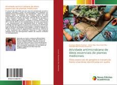 Bookcover of Atividade antimicrobiana de óleos essenciais de plantas medicinais