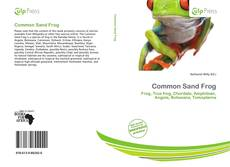 Bookcover of Common Sand Frog