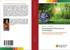 Borítókép a  Criminalidade Ambiental em Criminologia - hoz