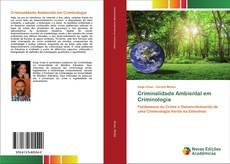 Criminalidade Ambiental em Criminologia kitap kapağı