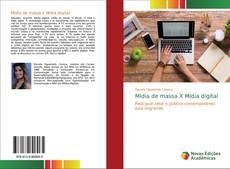 Buchcover von Mídia de massa X Mídia digital