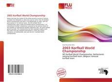 Portada del libro de 2003 Korfball World Championship
