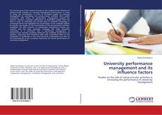 Bookcover of University performance management and its influence factors