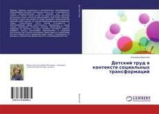 Детский труд в контексте социальных трансформаций kitap kapağı