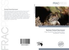 Bookcover of Guinea Snout-burrower