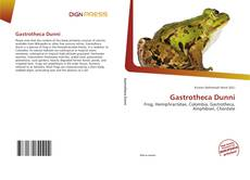 Bookcover of Gastrotheca Dunni