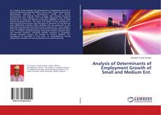 Couverture de Analysis of Determinants of Employment Growth of Small and Medium Ent.