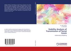 Buchcover von Stability Analysis of Transmission of Social Issues