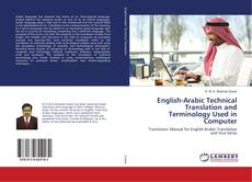 Buchcover von English-Arabic Technical Translation and Terminology Used in Computer