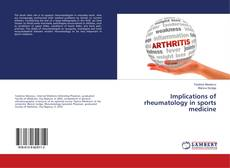 Buchcover von Implications of rheumatology in sports medicine
