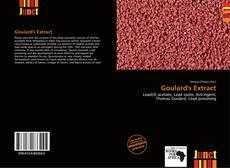 Copertina di Goulard's Extract