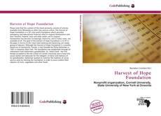 Harvest of Hope Foundation kitap kapağı