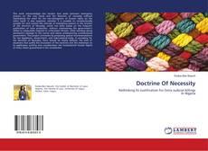 Couverture de Doctrine Of Necessity