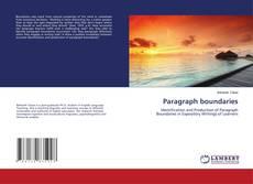Paragraph boundaries kitap kapağı
