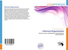 Bookcover of Informal Organization