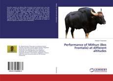 Portada del libro de Performance of Mithun (Bos Frontalis) at different altitudes